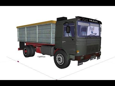 Roman Diesel camion cereale 3D W.I.P