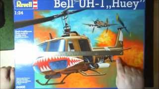 Bell UH 1 Huey 1:24 von Revell german unboxing