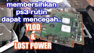 TUTORIAL MEMBUKA DAN MEMBERSIHKAN PS3 SLIM SUPAYA GAK KENA YLOD DAN LOST POWER