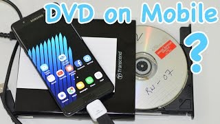 How to Connect CD DVD Drive to YOUR Mobile with OTG Connector? - Galaxy Note 7