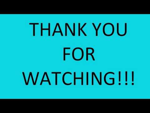 THANK YOU FOR WATCHING - YouTube