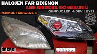 BiXenon Led Mercek Far Dönüşümü // Renault Megane 3