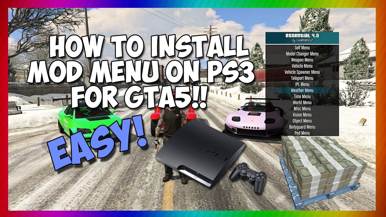 HOW TO INSTALL MOD MENU GTA5 (PS3) 1 26 NO JAILBREAK (USB MOD)