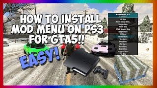 How Install Mod Menu Gta5 Ps3 No Jailbreak Usb Mod