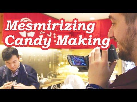 MESMERIZING CANDY MAKING: Amezaiku at Ameshin - Under Tokyo, Skytree, Japan!