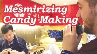 MESMERIZING CANDY MAKING: Amezaiku at Ameshin - Under Tokyo, Skytree, Japan!