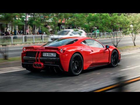 Nghe Tiếng Pô KHỦNG Của Ferrari 458 Misha Design / FI-Exhaust Khi Tăng Tốc, Vượt Hầm Thủ Thiêm