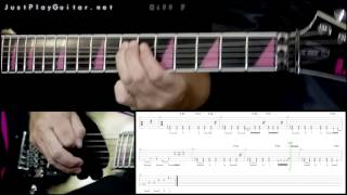 [ CHILDREN OF BODOM - Punch me i bleed ] How to play part 2/2 [ free guitar lesson ] with tabs