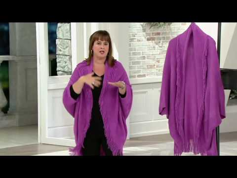 Layers by Lizden Marvelush Shrug with Cable Detail on QVC