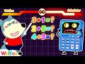 Wolfoo, Stop Catching Super Calculator Do Math for You - Educational Video for Kids   Wolfoo Channel