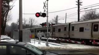 MTA LIRR Bombardier M7 @ leaving Little Neck Manhattan Bound