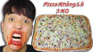NTN -   Thử Thách Ăn Pizza Khổng Lồ Nặng 3 KG ( Pizza Giant 3 KG )