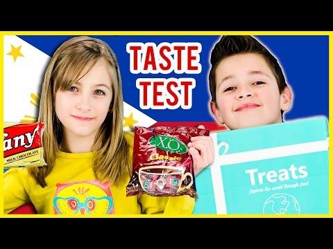 AMERICAN KIDS TRY TREATS FROM PHILIPPINES! TREATS & SNACKS TASTE TEST