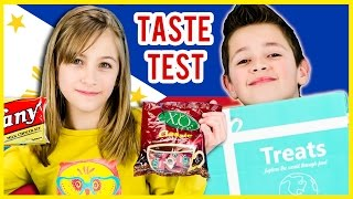 AMERICAN KIDS TRY TREATS FROM PHILIPPINES! TREATS & SNACKS TASTE TEST