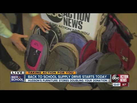 ABC Action News, Hudson's Furniture team up for Back-To-School supply drive
