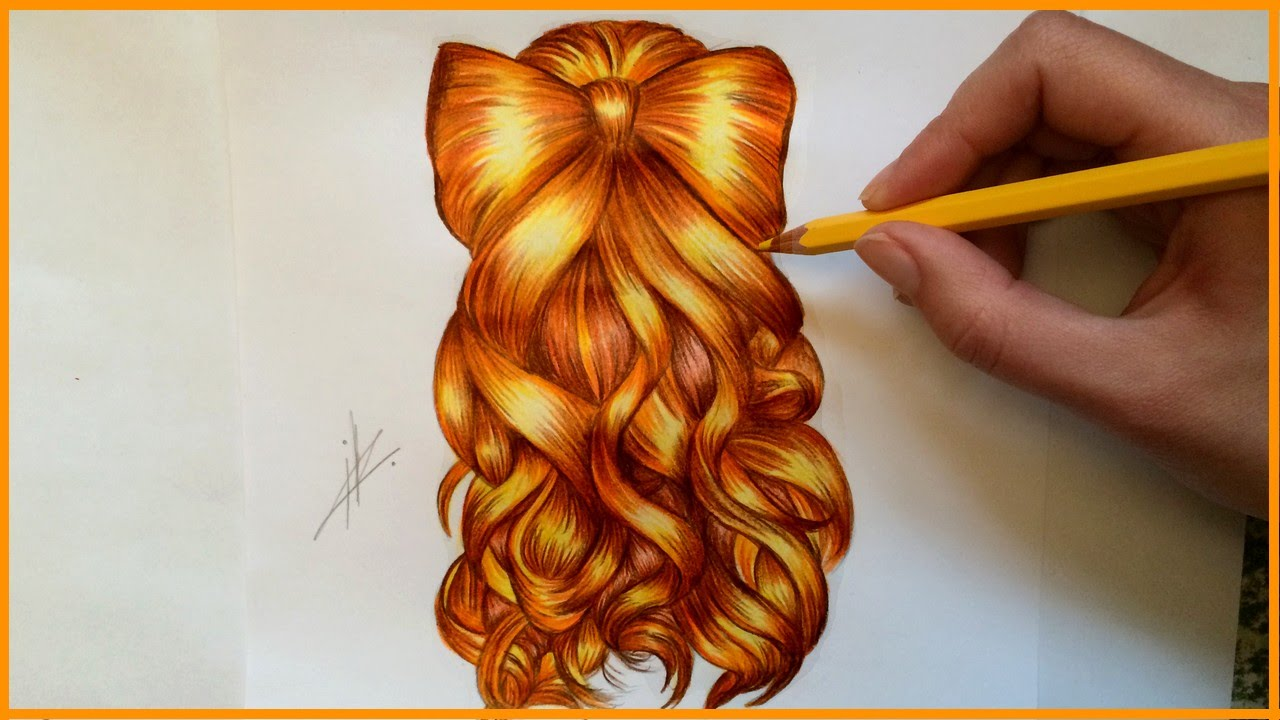 drawing bow hairstyle
