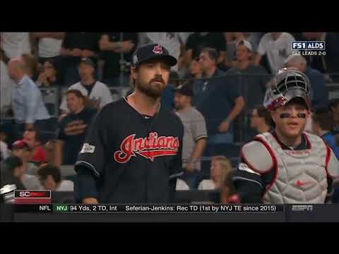 New York Yankees vs Cleveland Indians Game 3 MLB Playoffs