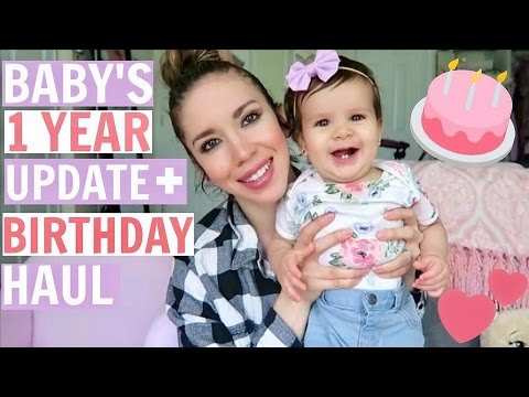MY 1 YEAR OLD IS TINY! BIRTHDAY HAUL + UPDATE