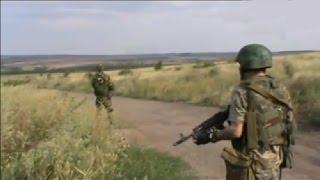 Съемки боя ополчения ДНР с участием танков. 25 июля 2014. Боевые действия на Юго-Востоке Украины.