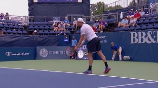 Tennys Sandgren defeats Ricardas Berankis 2018 US Open Series Winston-Salem Open R1
