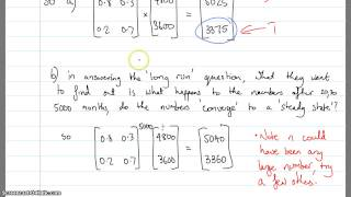 Discrete random variables Markov Chains part 3 (Ex 8-5)