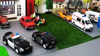 Auto-Cartoon für Kinder - Cartoon-Autos - Parkplatz für Kids - Bus für die Kinder - Cartoon-Spielzeug