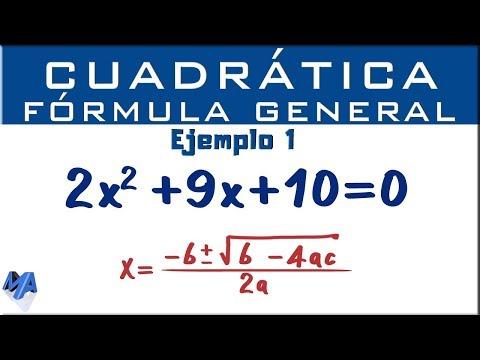 ecuación-cuadrática-por-fórmula-general-|-ejemplo-1