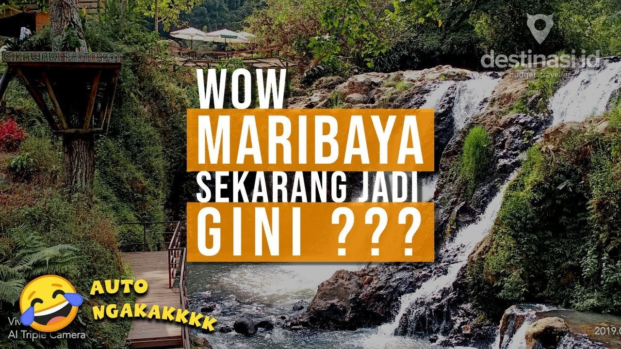 Wisata Maribaya Natural Hot Spring Resort Waterfall  Lembang Bandung  #destinasiid