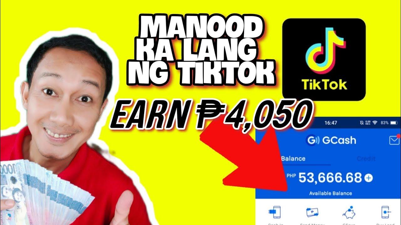 Kumita Sa GCASH Ng P4050 Per Day Sa Online Manood Ka Lang Sa TikTok