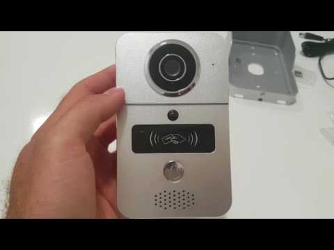 Smart WIFI doorbell review with Remote door unlocking. unboxing, configuration  and setup. KW02C