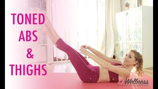Toned Abs and Thighs workout | Balletlates | Pilates workout | Ballet Workout