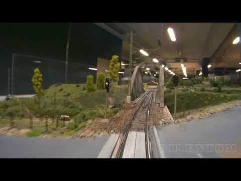 Cab Ride along Sweden's Largest Model Railway Layout and Fiddle Yards