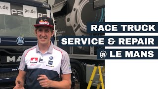 Race Truck Repair and Service at Le Mans