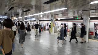 なんとなく電車:東京メトロ新宿駅:丸ノ内線荻窪行き発車光景20210612_151150