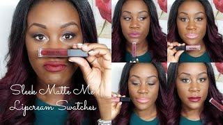 Video NEW Sleek Matte Me Lip Cream | Swatches on Dark skin | Miss Sydz download MP3, 3GP, MP4, WEBM, AVI, FLV Juni 2018
