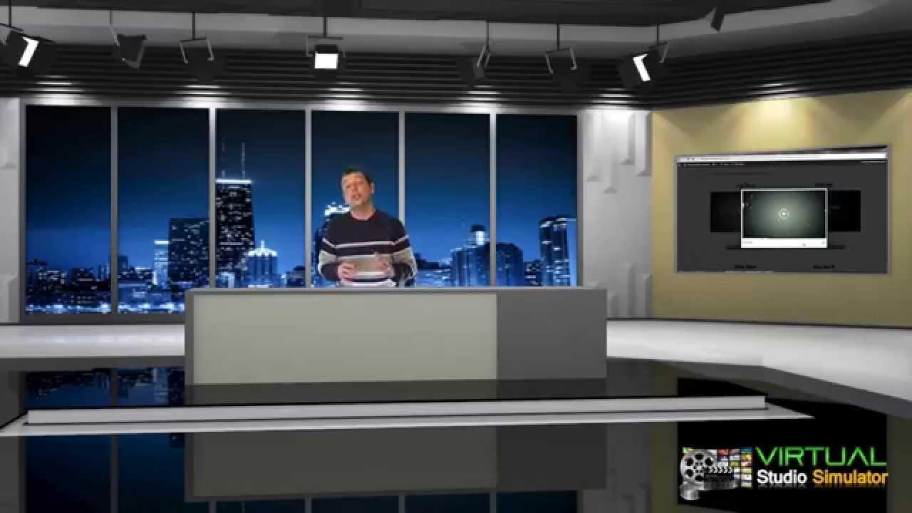 Virtual Studio Clean News Room Animated Youtube