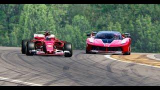 Ferrari F1 2017 vs Ferrari FXX K - Spa