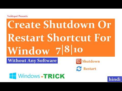 How To Create Shutdown Shortcut In Window 8 1 - Hindi Urdu