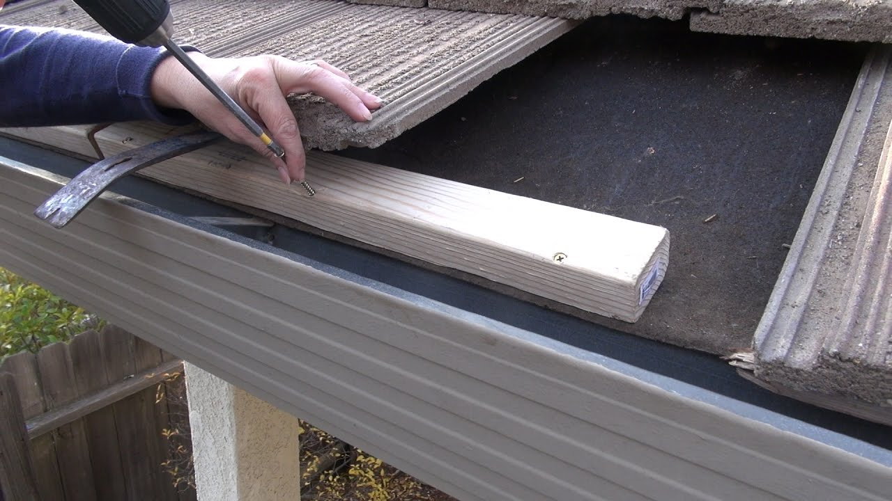 Easyon Gutterguard Installing On Gutter Raised Higher