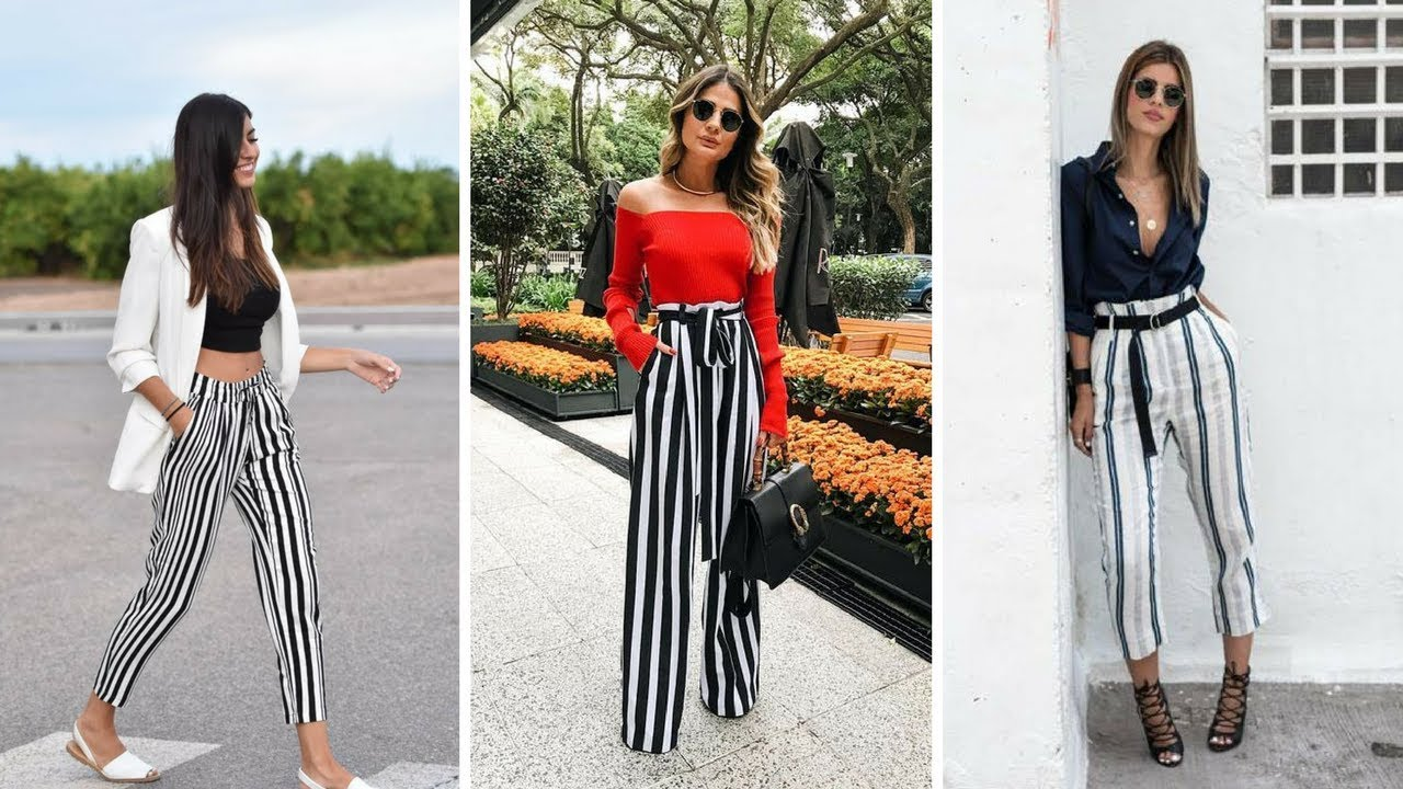 Tendencia Pantalones A Rayas 2018 Youtube