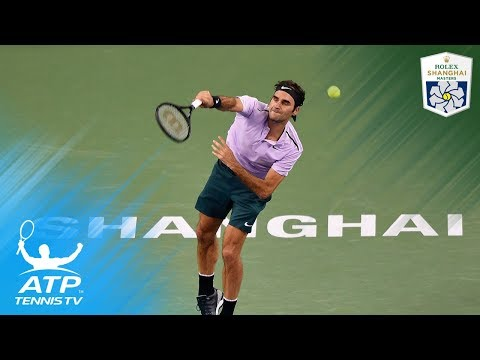Roger Federer vs Diego Schwartzman: hot shots and match point | Shanghai 2017 Highlights