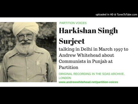 Partition Voices - Harkishan Singh Surjeet