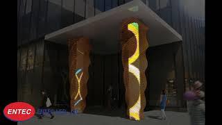 Trang trí mặt tiền tòa nhà khách sạn - Đèn LED nội địa Hàn Quốc
