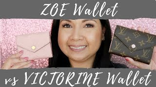 Louis Vuitton Zoe Wallet vs Victorine Wallet | Comparison | LalaLV