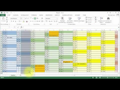 Tutorial Excel Kalender Jahresübersicht