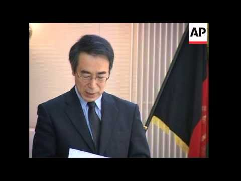 Service for killed Japanese aid worker
