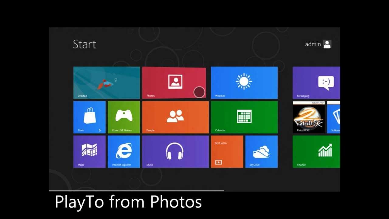 PlayTo Western Digital TV - Metro Style Photos App - Windows 8