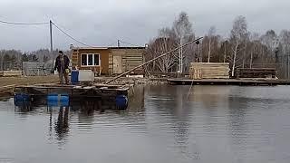 Вылов форели с пруда Отлов излишков форели с платного пруда