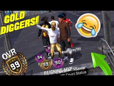 99 OVERALL GOLD DIGGER PRANK/SOCIAL EXPERIMENT - NBA 2K18