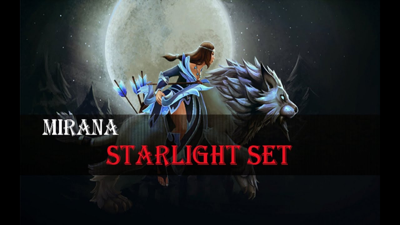 dota 2 store mirana starlight set youtube